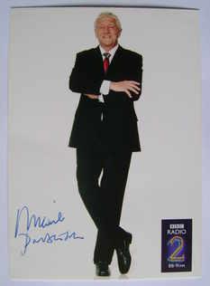 Michael Parkinson autograph