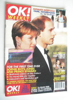 <!--1996-07-07-->OK! magazine - Sophie Rhys-Jones and Prince Edward cover (