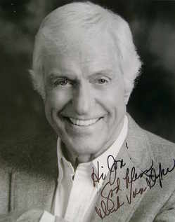 Dick Van Dyke autograph (hand-signed photograph, dedicated)