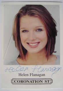 Helen Flanagan autograph (hand-signed Coronation Street cast card)