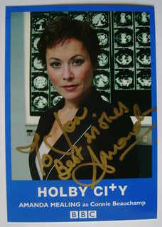 Amanda Mealing autograph (ex Holby City actor)