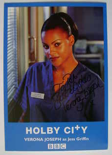 Verona Joseph autograph (ex Holby City actor)
