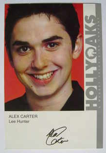 Alex Carter autograph (ex-Hollyoaks actor)