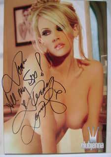 Jenna Jameson autograph
