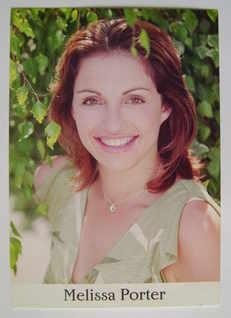 Melissa Porter autograph