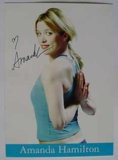 Amanda Hamilton autograph (hand-signed photograph)