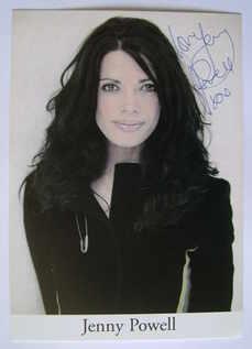 Jenny Powell autograph
