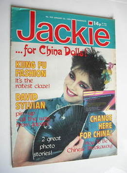 <!--1982-01-23-->Jackie magazine - 23 January 1982 (Issue 942)
