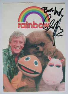 Geoffrey Hayes autograph (hand-signed Rainbow cast card)
