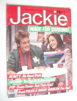 <!--1982-02-20-->Jackie magazine - 20 February 1982 (Issue 946)