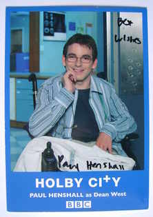 Paul Henshall autograph (ex-Holby City actor)