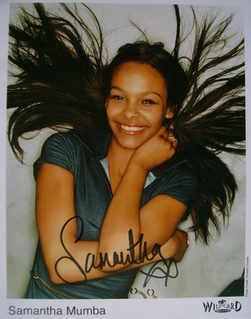 Samantha Mumba autograph