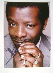 Stephen K. Amos autograph - signed photo