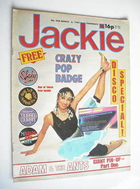 <!--1982-03-06-->Jackie magazine - 6 March 1982 (Issue 948)