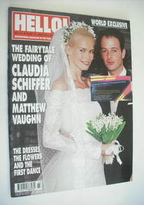 <!--2002-06-11-->Hello! magazine - Claudia Schiffer wedding cover (11 June