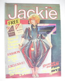<!--1981-11-14-->Jackie magazine - 14 November 1981 (Issue 932 - Toyah Will