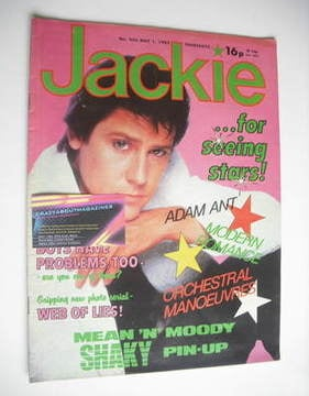 <!--1982-05-01-->Jackie magazine - 1 May 1982 (Issue 956 - Shakin' Stevens
