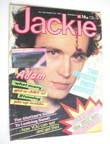 <!--1982-03-20-->Jackie magazine - 20 March 1982 (Issue 950 - Adam Ant cove
