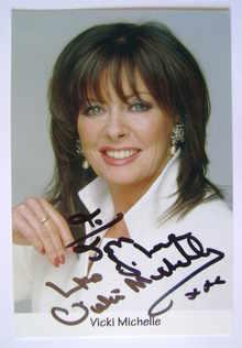 Vicki Michelle autograph