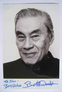 Burt Kwouk autograph (hand-signed photograph, dedicated)