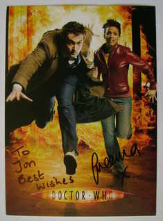 Freema Agyeman autograph (signed Doctor Who cast card, dedicated)