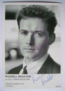 Russell Boulter autograph (ex The Bill actor)