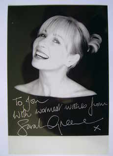 Sarah Greene autograph