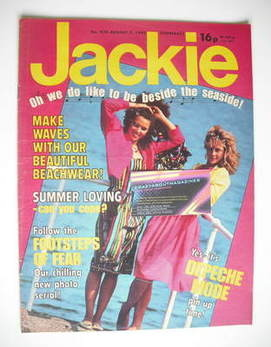<!--1982-08-07-->Jackie magazine - 7 August 1982 (Issue 970)