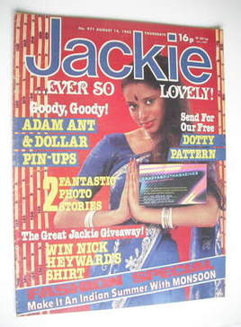 <!--1982-08-14-->Jackie magazine - 14 August 1982 (Issue 971)
