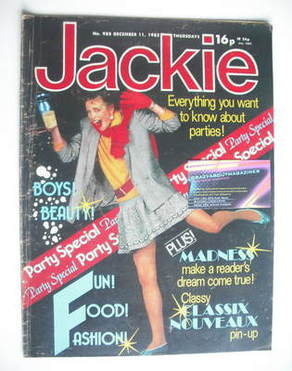<!--1982-12-11-->Jackie magazine - 11 December 1982 (Issue 988)