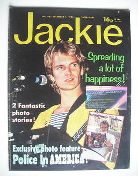 <!--1982-12-04-->Jackie magazine - 4 December 1982 (Issue 987 - Sting cover