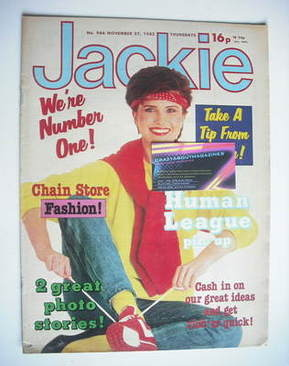 <!--1982-11-27-->Jackie magazine - 27 November 1982 (Issue 986)