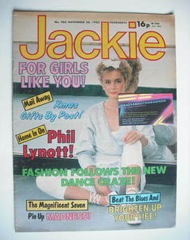 <!--1982-11-20-->Jackie magazine - 20 November 1982 (Issue 985)
