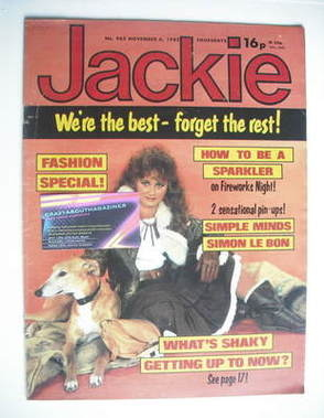 <!--1982-11-06-->Jackie magazine - 6 November 1982 (Issue 983)