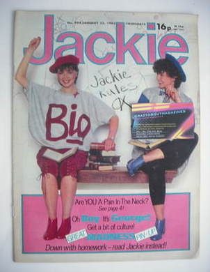 <!--1983-01-22-->Jackie magazine - 22 January 1983 (Issue 994)