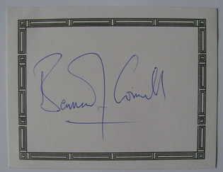 Bernard Cornwell autograph