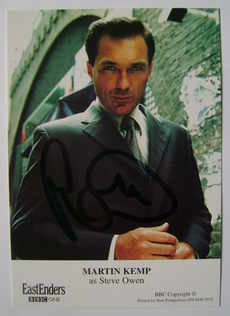 Martin Kemp autographed photo