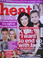 <!--2001-11-24-->Heat magazine - Kym Marsh and Jack Ryder cover (24-30 November 2001 - Issue 144)
