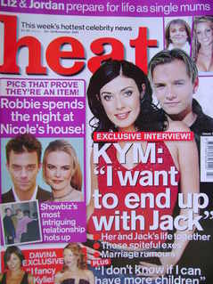 Heat magazine - Kym Marsh and Jack Ryder cover (24-30 November 2001 - Issue 144)