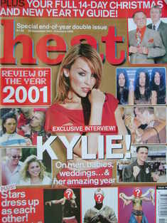Heat magazine - Kylie Minogue cover (22 December 2001 - 4 January 2002 - Issue 148)