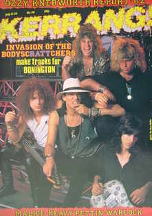 <!--1985-07-11-->Kerrang magazine - Ratt cover (11-24 July 1985 - Issue 98)