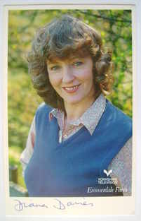 Diana Davies autograph (hand-signed Emmerdale cast card)