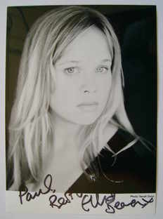 Ellie Beaven autograph (hand-signed photograph, dedicated)