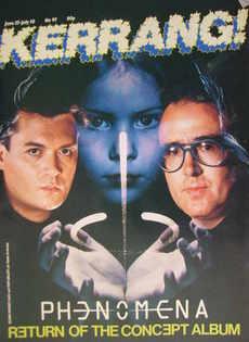 <!--1985-06-27-->Kerrang magazine - Glenn Hughes and Tom Galley cover (27 J