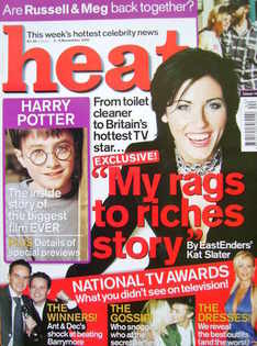 <!--2001-11-03-->Heat magazine - Jessie Wallace cover (3-9 November 2001 -