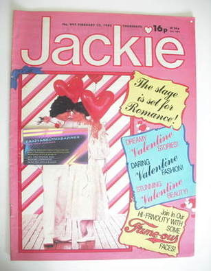 <!--1983-02-12-->Jackie magazine - 12 February 1983 (Issue 997)