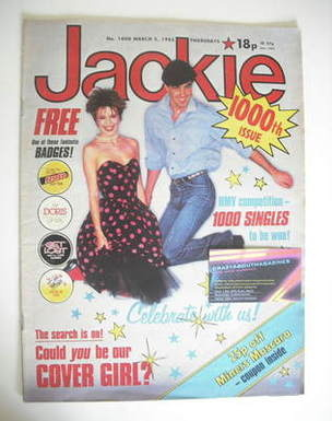 <!--1983-03-05-->Jackie magazine - 5 March 1983 (Issue 1000)