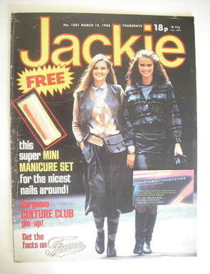 <!--1983-03-12-->Jackie magazine - 12 March 1983 (Issue 1001)
