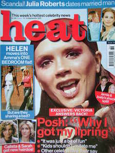 <!--2001-09-08-->Heat magazine - Victoria Beckham cover (8-14 September 200