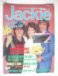 <!--1983-07-23-->Jackie magazine - 23 July 1983 (Issue 1020 - Modern Romanc